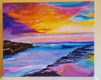 Original Painting on Canvas - SUNSET DREAMS