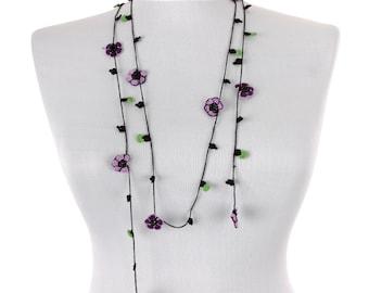 "62.60"" OYA Turkish Lace  Needle Lace  Crochet Oya Necklace - FAST worldwide shipment with UPS - bahar-029"