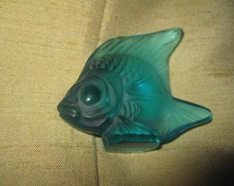 Fisch Glas Lalique Jahrgang guter Zustand