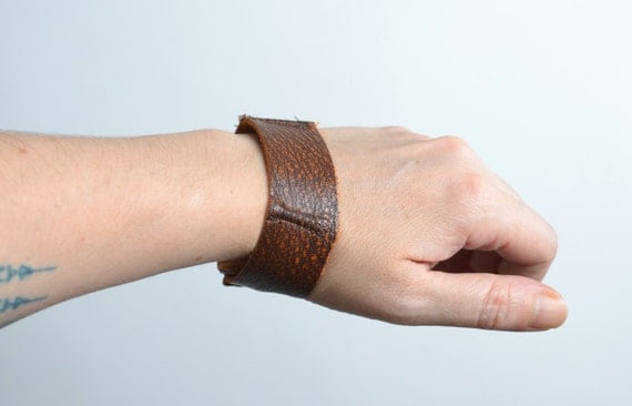 Men Brown Leather Cuff - Twisted Men's Leather Cuff - Leather Cuff - Men Leather Cuff - Men's Accessories