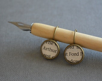 Hitchhikers Guide to the Galaxy Arthur Dent and Ford Prefect Leverback Earrings