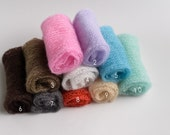 Sale!!! Knit Mohair Wrap Newborn Photography Prop - Layer, Blanket, Swaddle, Wrap, Knot or just add color - choose from 10 colors