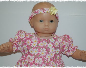 "Short Sleeve Dress (Bitty Baby 15"" Doll)"