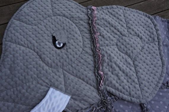 Elephant Rag Quilt Keepsake Quiltanimal By