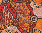 Australian Indigenous Fabric: Women Dreaming in Yellow
