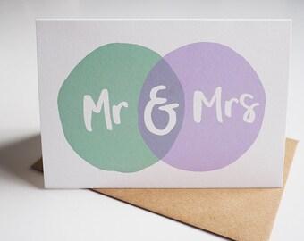 Mr & Mrs - Greetings Card, Wedding Card