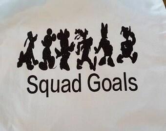 Disney Squad goals canvas drawstring bag