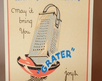 Birthday Card with a Grater Pun