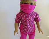 American Girl Doll Clothes; American Girl Doll Four Piece Scrubs Outfit; Doll Nurse Outfit; Doll Scrubs Outfit