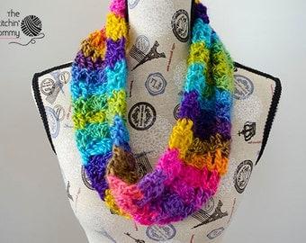 Boardwalk Carnival Cowl - Crochet Pattern
