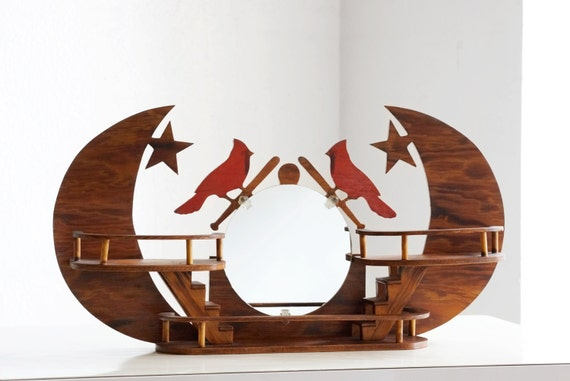 st louis cardinals folk art wall hanging. Black Bedroom Furniture Sets. Home Design Ideas