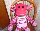 Valentine Red Sock Monkey Doll