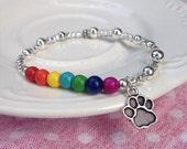 Rainbow Bridge Bracelet with charm