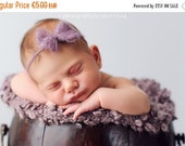 SALE Newborn mohair Bow headband tieback / Baby tieback with Bow/Newborn photography prop