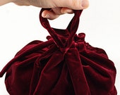 Red Velvet Unlined Placenta Bag - for use with Lotus Birth