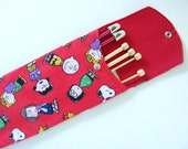 Long Knitting Needle Case, Needle Holder, Organizer - Peanuts Charlie Brown