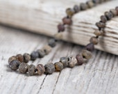 Raw amber teething necklace. Maximum pain relief