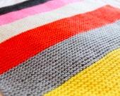 Hand Knitted 100% Merino Wool Blanket / Throw