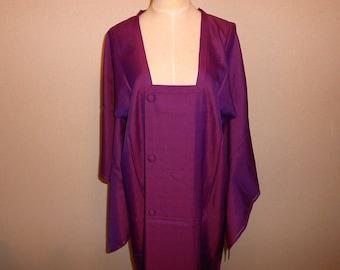SUMMER SALE 30%off!! Vintage mitiyuki - Geometric, Orchid purple, Unlined