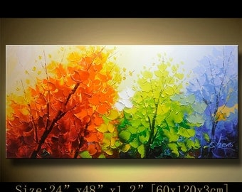 Original Abstract Painting, Modern Textured Painting,Impasto Landscape Textured Modern Palette Knife Painting,Painting on Canvas byChen xx79
