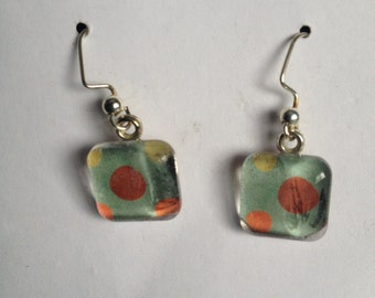 Polka Dot Glass Earrings