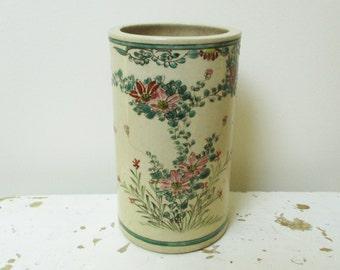 Antique french vase, Vintage ceramic, Faience,  France, Antique home decor, 1930