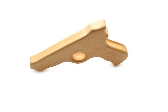 Gun toy for boy. Wooden Gun - toy for kids.