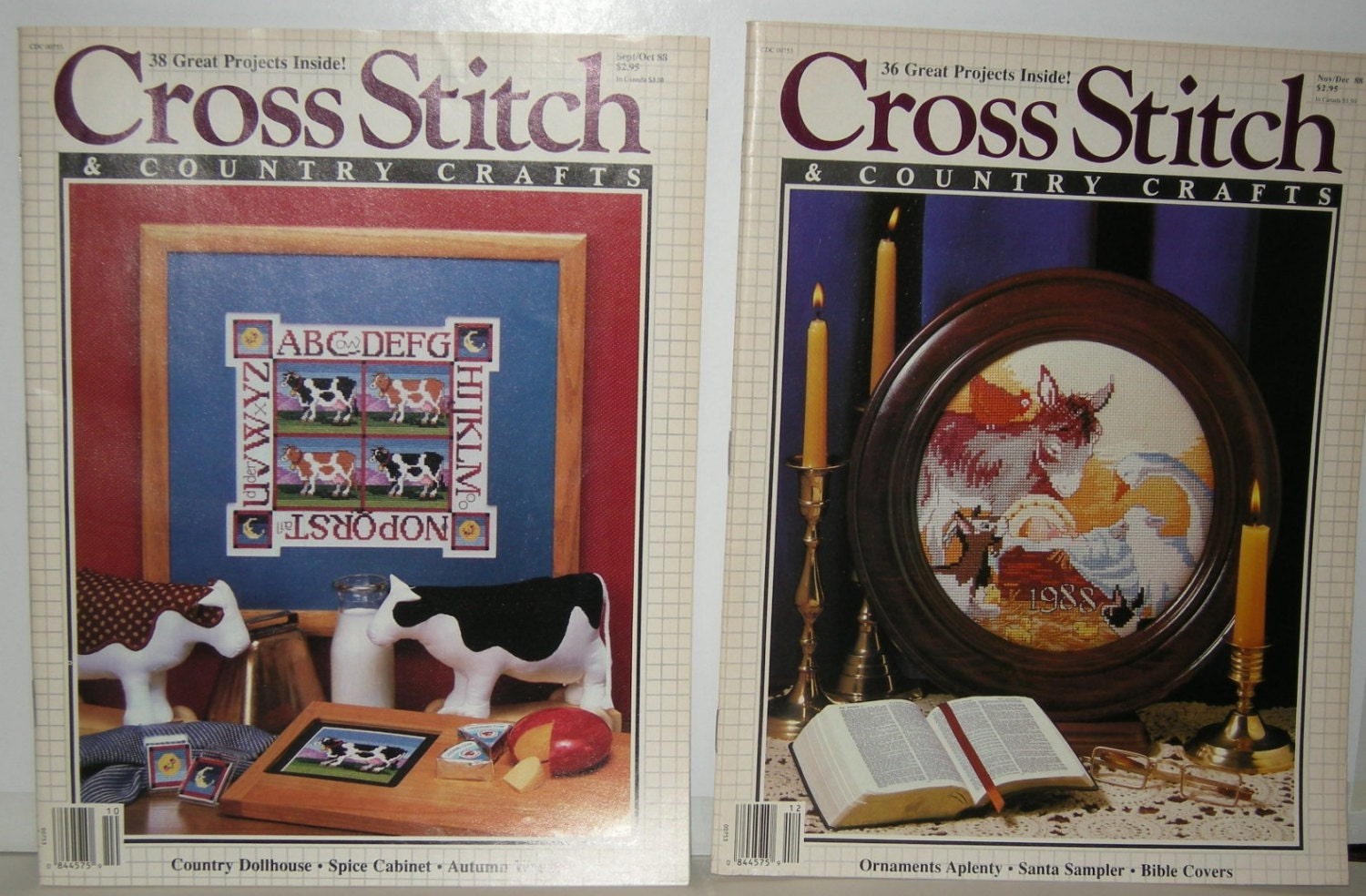 Cross stitch and country crafts magazine back issues -  10 95