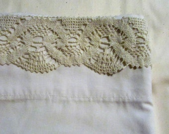 Standard Single Pillowcase with Lace