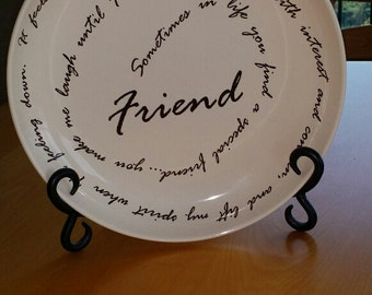 """Life is a Circle """"Friend"""" Decorative Plate by Carson"""