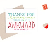 mother's day card - awkward phases - recycled paper