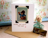 Paddington Bear greeting card - hand crafted