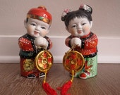 60% OFF Vintage Prosperity Figurines Girl and Boy