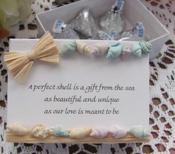 Beach Wedding Favor Boxes Beach Favor Box Seashell Wedding
