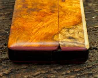 Wood Wallet and Business Card Holder - Amboyna Burl