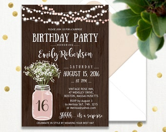 Sweet Birthday Party Invitations Printable Tropical Hawaii - Editable birthday invitations for adults