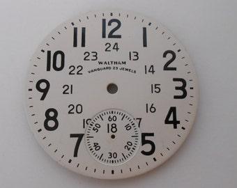 Waltham VanGuard 23 Jewels Pocket Watch Brass Dial Original 43MM(3) Like new