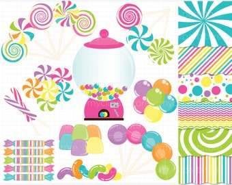 Clipart Combo - Candyland Fantasy - Vector Clipart / Instant Download