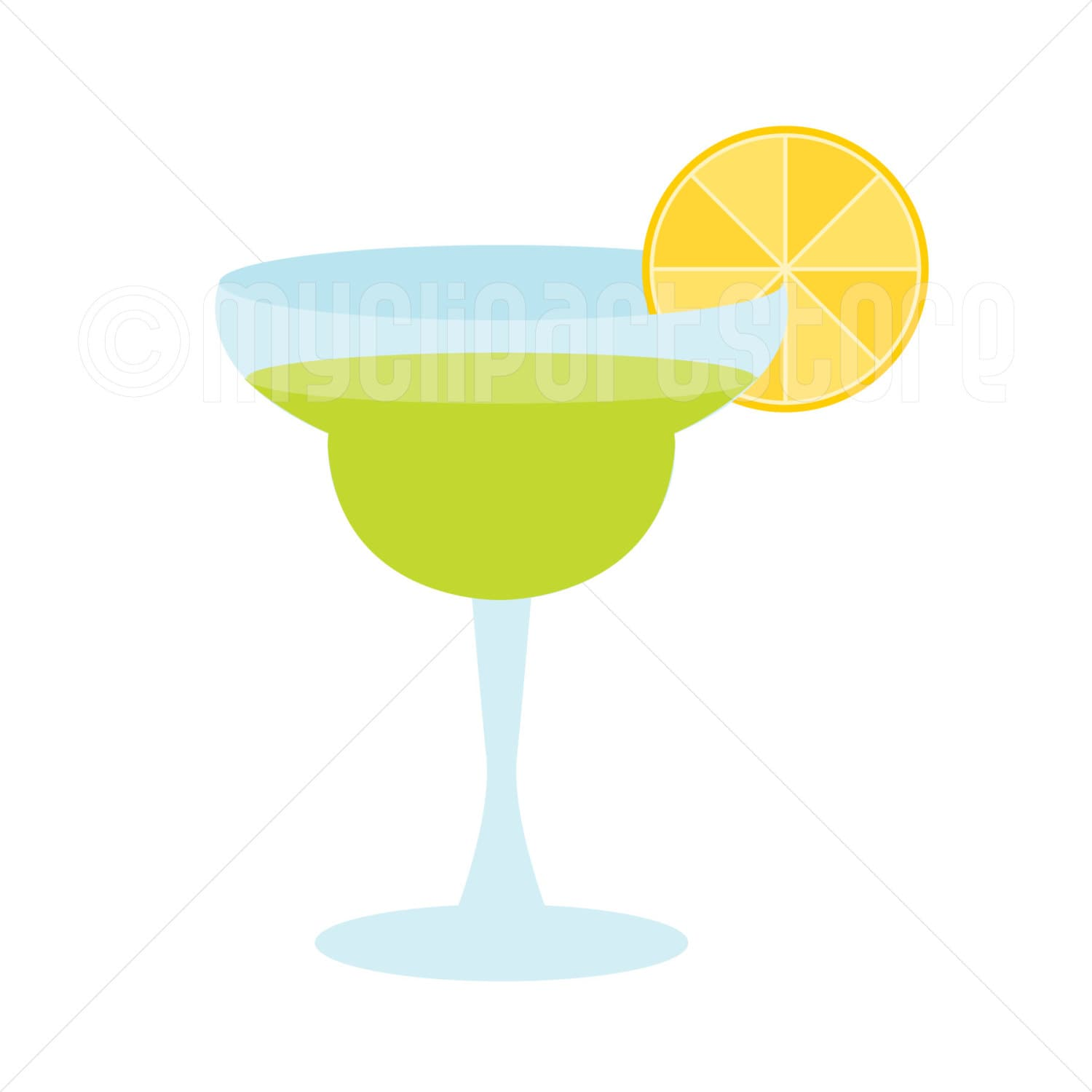 This is a graphic of Gorgeous Margarita Glass Drawing