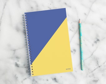 Pick Your School Colors – Lined Notebook with back pocket