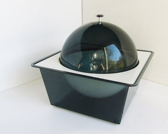 Vintage Space Age Lucite Ice Bucket Hot Cold Hipster Servingware