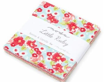 AVAILABLE NOW - Moda Little Ruby Charm Pack by Bonnie & Camille