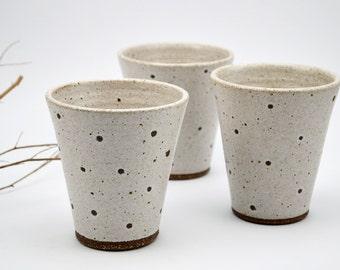 Set of Three Ceramic Tumblers - Ceramic Cups - Pottery Cups