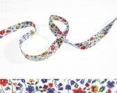 1 yard - Liberty of London Tana Lawn fabric, bias tape - print: Kimberley and Sarah A
