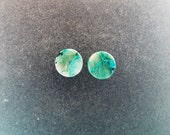 "Malachite Chrysocolla 5/16"", 0g Ear plugs one pair"