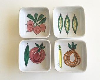 Vintage Schramberg SMF Mod Graphic Relish Dishes