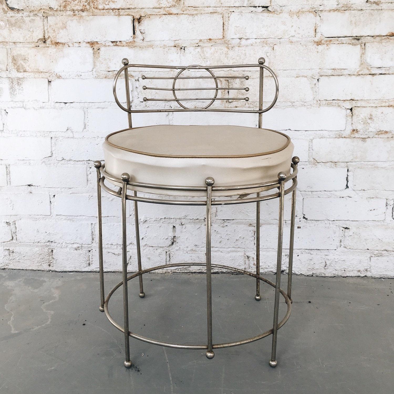 Vintage brass vanity chair - Antique vanity stools ...