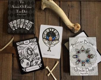 BUNDLE - Animalis Os Fortuna Complete Tarot and the Azúcar Bone Oracle Decks with Companion Books