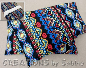 Corn Heat Pack,Microwave Pillow washable cover Therapy Pad Bag Ice Pack Indian Native American Pattern Hopi colors (496)