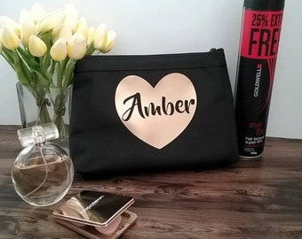 Personalised Makeup bag, bride gift, personalised cosmetic bag, makeup bag, makeup bag large, Christmas gifts, gift for her, Xmas gift